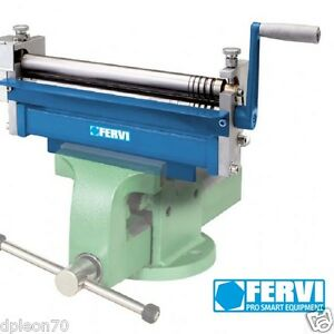 Mini calandra rotolatrice curvatrice manuale lamiera tondi Fervi 0235 300 mm