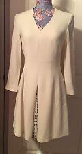 NWT 435$ Just Cavalli Ivory Short Dress, Size US4(IT40)