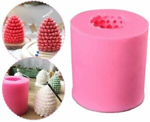 3D Pine Cone Silicone Christmas Candle Mold Candles Molds DIY Making Soap Mould