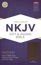 NKJV Gift and Award Bible, Brown Imitation Leather (2013, Imitation Leather)