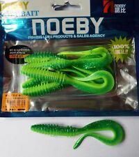 Noeby pêche leurre souple odorant worm twist 10cm non étiré 5,6g couleur 205