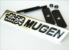 Mugen Chrome Grill Badge Black Lettering Brand New S2000 Civic Type R Integra