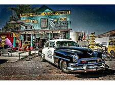 NEW Route 66 Seligman Attraction Police Car tin metal sign