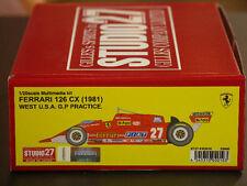 Studio27 FR2010 1:20 Ferrari 126CX 1981 resin kit