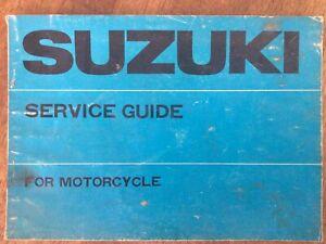 1970 Suzuki Service Guide VGC All Models