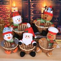 Christmas Candy Storage Basket Decoration Santa Claus Storage Basket Gift Decor
