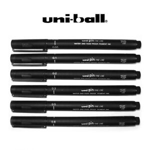 Uni Pin Drawing Pen Fineliner Ultra Fine Line Marker in Black, Blue and Red Ink