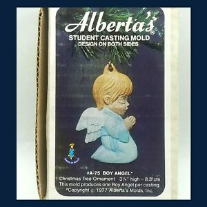 1972 Alberta's Student Casting Mold A-75 Boy Angel Xmas Tree Ornament