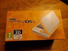 Nintendo 2DS XL Console - White/Orange 101 BEST 3DS GAMES BUILT INTO 128GB SD