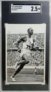 1936 Reemstma Sammelwerk #32 Jesse Owens Rookie Card RC SGC 2.5 USA Olympic