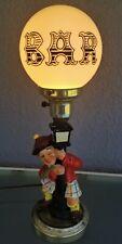 Vintage Bar Globe Lamp Drunken Scottish Man Kilt Scotsman Light Hobo Barware