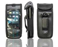 caseroxx Leather-Case with belt clip for Nokia 6303 und 6303i in black made of g