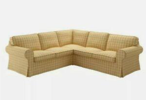 Ikea Ektorp 4 Seat Corner Sectional Sofa Slipcover Skaktarp Yellow New Sealed