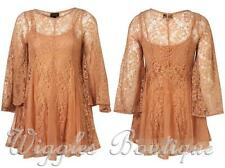 Topshop Lace Mini Dresses Round Neck