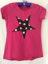 Pink Sequinned Star T Shirt, Age 12-13