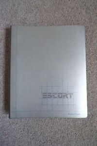 FORD ESCORT PRODUCT TRAINING GUIDE - DIRECT FROM FORD 1980 - INCLUDING XR3 RARE