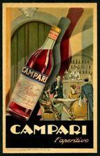 CAMPARI L'APERITIVO - GROS MONTI TORINO Cartolina PUBBLICITARIA ADVERTISING