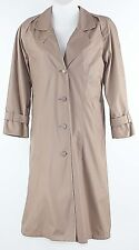 London Fog Sz 14P Taupe Removable Liner Polyester Cotton Raincoat G149