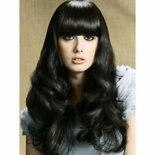 100% Real Hair! Attractive Full Bang Black Fashion Fluffy Wavy Long Women's Wig