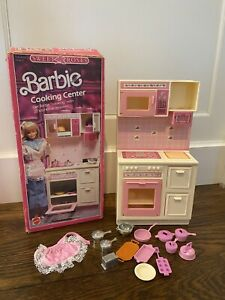 Barbie Sweet Roses Cooking Center Kitchen - With Box And Most Accessories