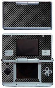 Black Carbon Fiber Vinyl Decal Cover Skin Sticker Cover for Nintendo DS Original