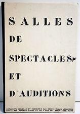 ARCHITECTURE- RARE- SALLES de SPECTACLES & d'AUDITIONS - 71 planches -1927/33