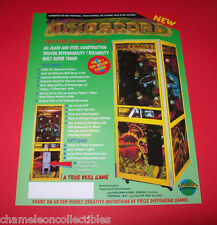 DINOSCORE By PLANET EARTH NOS REDEMPTION ARCADE GAME MACHINE FLYER BROCHURE