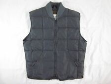 Mens Eddie Bauer Goose Down Quilted Hunting Work Vest Size 42 Gray Large