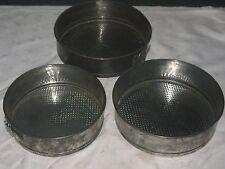 A Set of 3 Graduating Spring Form Loose Bottom Base Cake Pan Tin Baking Bakeware