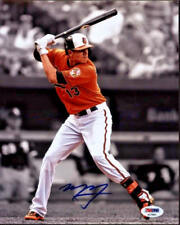 Manny Machado Signed 8x10 Baltimore Orioles Photo - MLB Orange Spotlight PSA/DNA