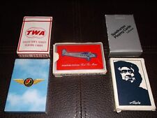 Aviation PLAYING CARDS Alaskan air, TWA, American, and Luftahansa