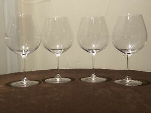 Four 4 Riedel Vinum Pinot Noir Glasses Immaculate Lot 1 of 2 NR