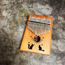 Kmise 17 Key Finger Piano Marib Mahogany