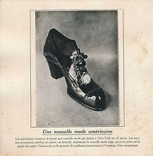 PHOTO PRESSE c. 1910 -Curiosité Mode: Montre sur le Soulier à New-York USA - 211