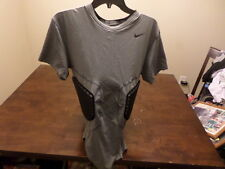 Nike pro combat Dry Fit used men XXL football shirt pad Protective compression