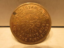 Gold Star Club Member $5 Coin Token Home Furnishing Store
