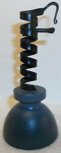 Tom Loose Hand Forged Miniature Courting Candlestick W/Wood Base Berks County Pa
