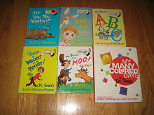 Dr. Seuss Books Bright and Early Board Book Lot of 6 Colored Days Wocket Eye Moo