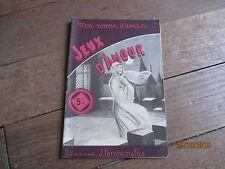 MON ROMAN D AMOUR 55 ANTOINE LAURENT jeux d amour 1947  ferenczi