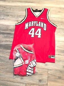 NWT'S VTG Nike Maryland Terrapins NCAA Basketball Jersey #44 Men's SZ 2xl Red