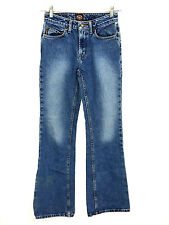 Bongo 1982 1 Jeans Boot Cut Faded 100% Cotton Juniors Womens 24 x 31