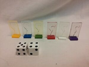 2008 CLUE Discover The Secrets complete replacement parts game pawns dice pack