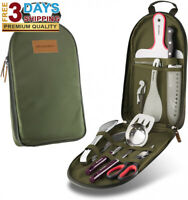 Portable Cookware Utensils for BBQ Camping/Traveling,With Water Resistant Case