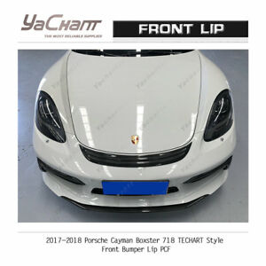 Carbon Splitter For 2017-2018 Porsche Cayman / Boxster 718 TCA-Style Front Lip