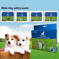Male Dog Puppy Pet Soft Belly Wrap Band Sanitary Jeans Pants Underpants XS-L
