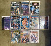 STAR TREK Comic Book Lot Of 12 All #1 Issues Marvel-DC-Malibu Comics 1984-1997