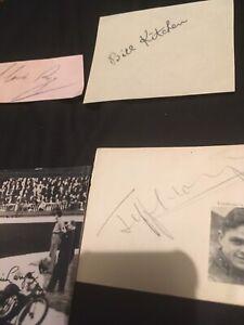 A Few Vintage Speedway Autographs