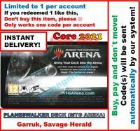 MAGIC MTG Arena Code: Planeswalker Deck Core Set 2021: GARRUK INSTANT EMAIL 🚚