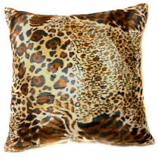 Ff10a Faux Fur Brown Leopard Skin Print Cushion Cover/Pillow Case*Custom Size