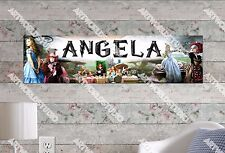 Personalized/Customized Alive in the Wonderland Name Poster Wall Art Banner
